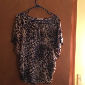 Animal print blouse by Dress Barn